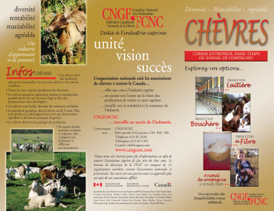 Brochure - Chèvres comme enterprise, passe-temps ou animal de compagnie