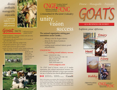 Brochure - Goats as a Business or Hobby