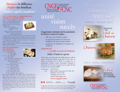 Brochure - Produits caprins